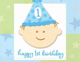 1st Birthday Boy Party Supplies & 1st Birthday Boy Decorations