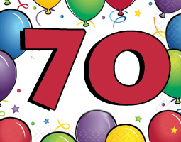 70th Birthday Party Supplies & 70th Birthday Decroations