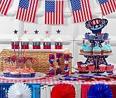 American Independence Day Table Decorations & 4th July Table Decorations