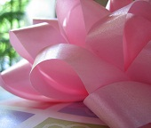 Pink Ribbon Table Decorations