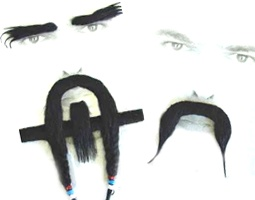 Moustaches, Beards, Sideburns, Chest Hair & Eyebrows Fancy Dress Costume Accessories Costumes