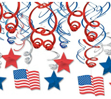American Independence Day Decorations & 4th July Decorations