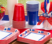 American Independence Day Tableware & 4th July Tableware