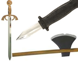 Knives, Daggers, Axes, Cleavers, Swords & Other Fancy Dress Costume Blades & Weapons Props Costumes