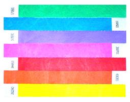 Plastic Wrist Bands, Paper & Tyvek Wrist Bands