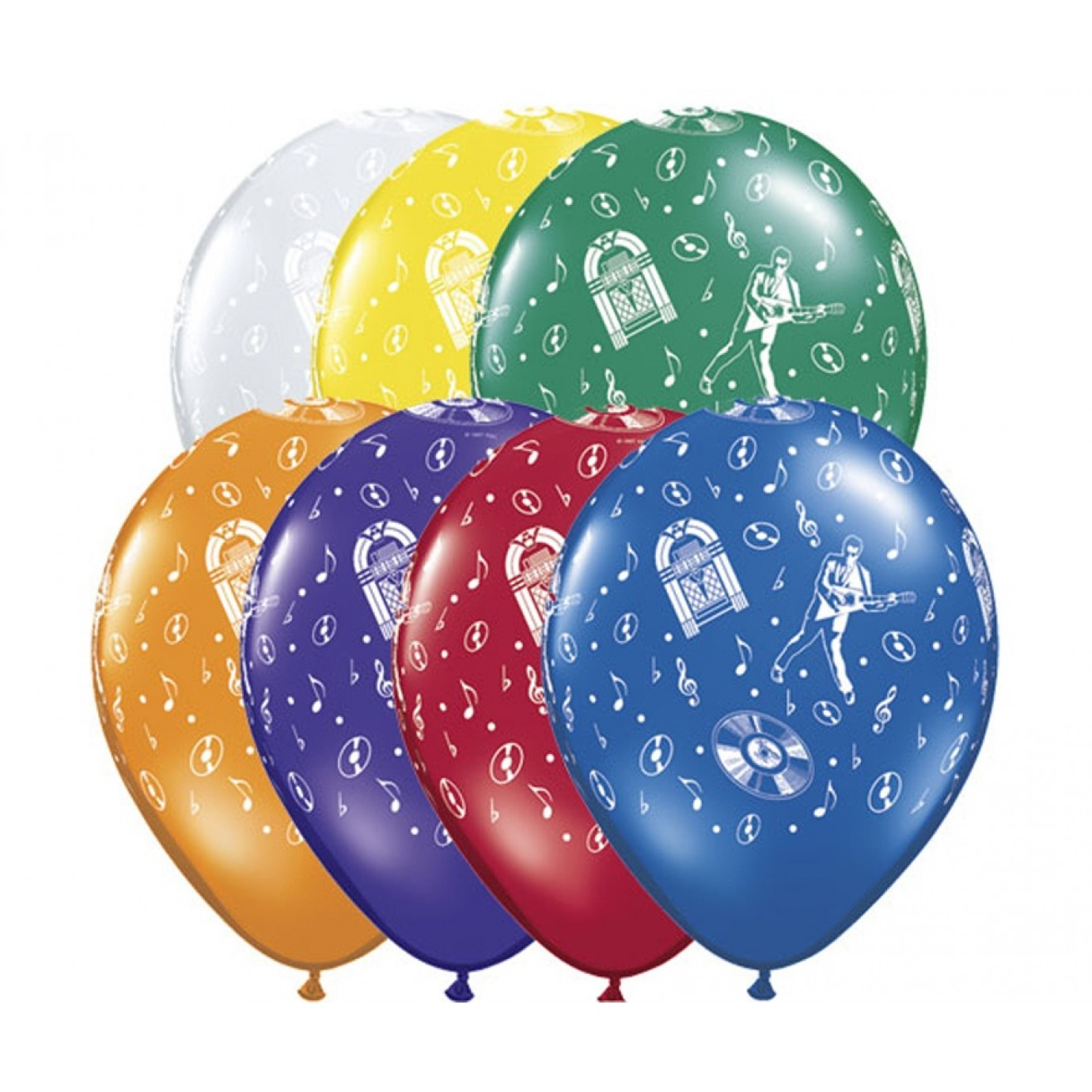 Latex Balloons  Rock /'n Roll 1950s images on all sides 100 pack