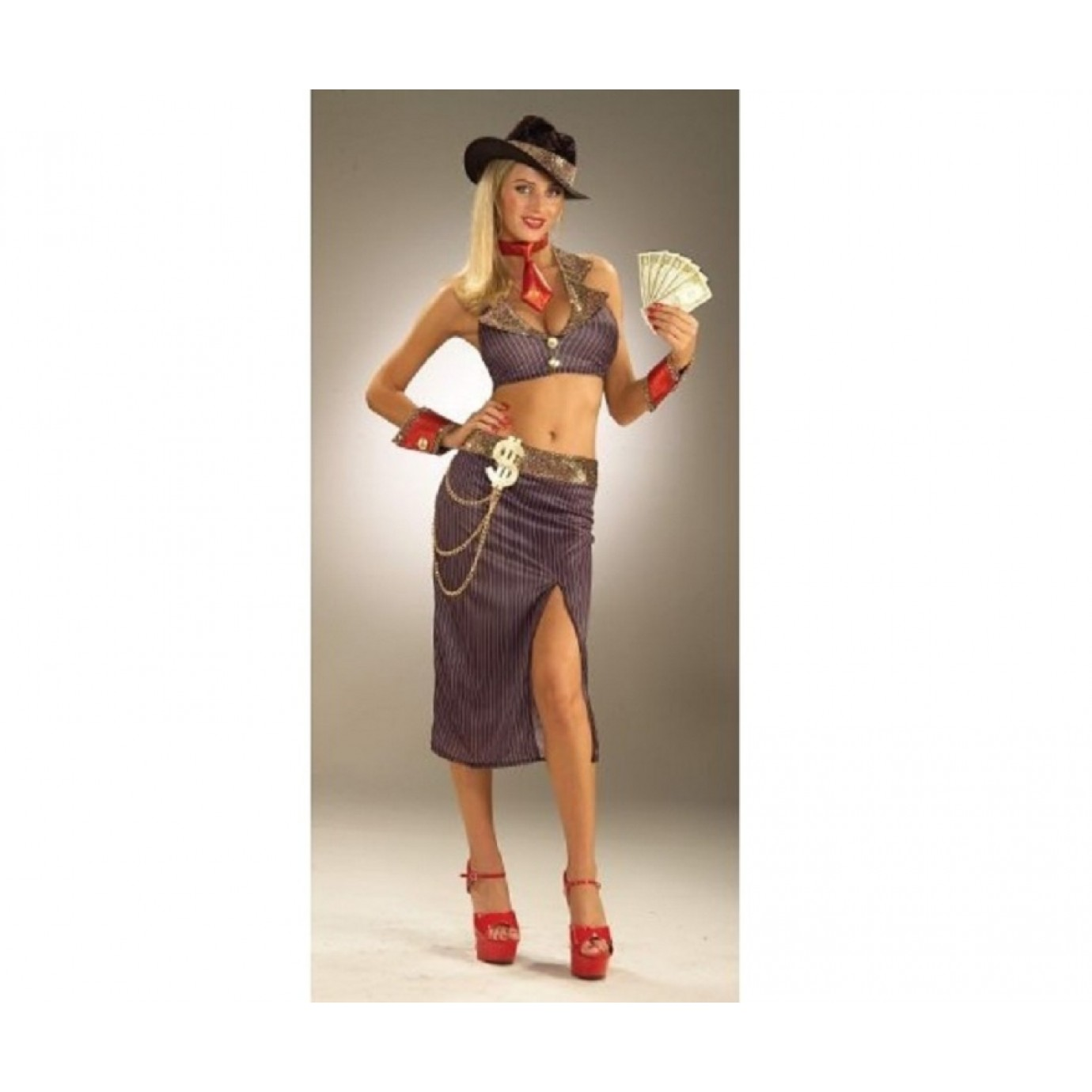 Adult Costume - Glamour Gangster  sc 1 st  The Party People & Adult Costume - Glamour Gangster | Pimps u0026 Pros | Fancy Dress ...