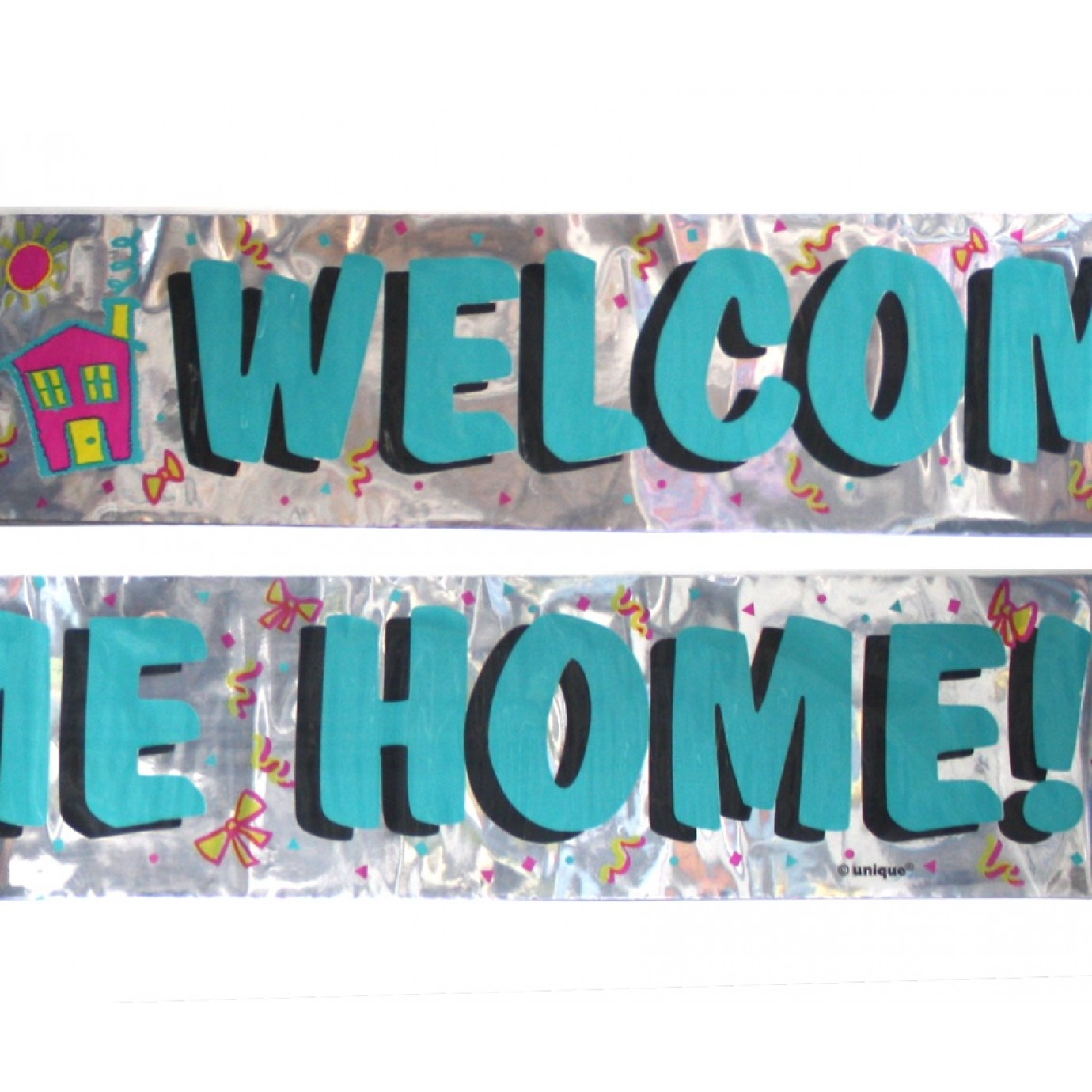 Banner foil welcome home silver welcome welcome for Welcome home party supplies decorations