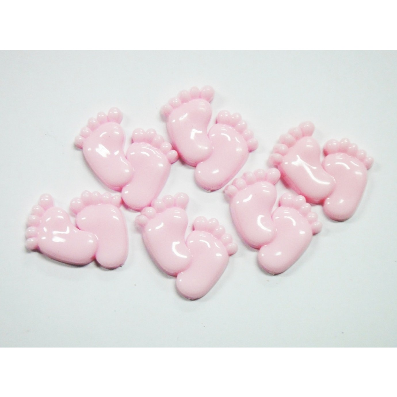 Plastic feet pink baby shower decorations party for Baby feet decoration