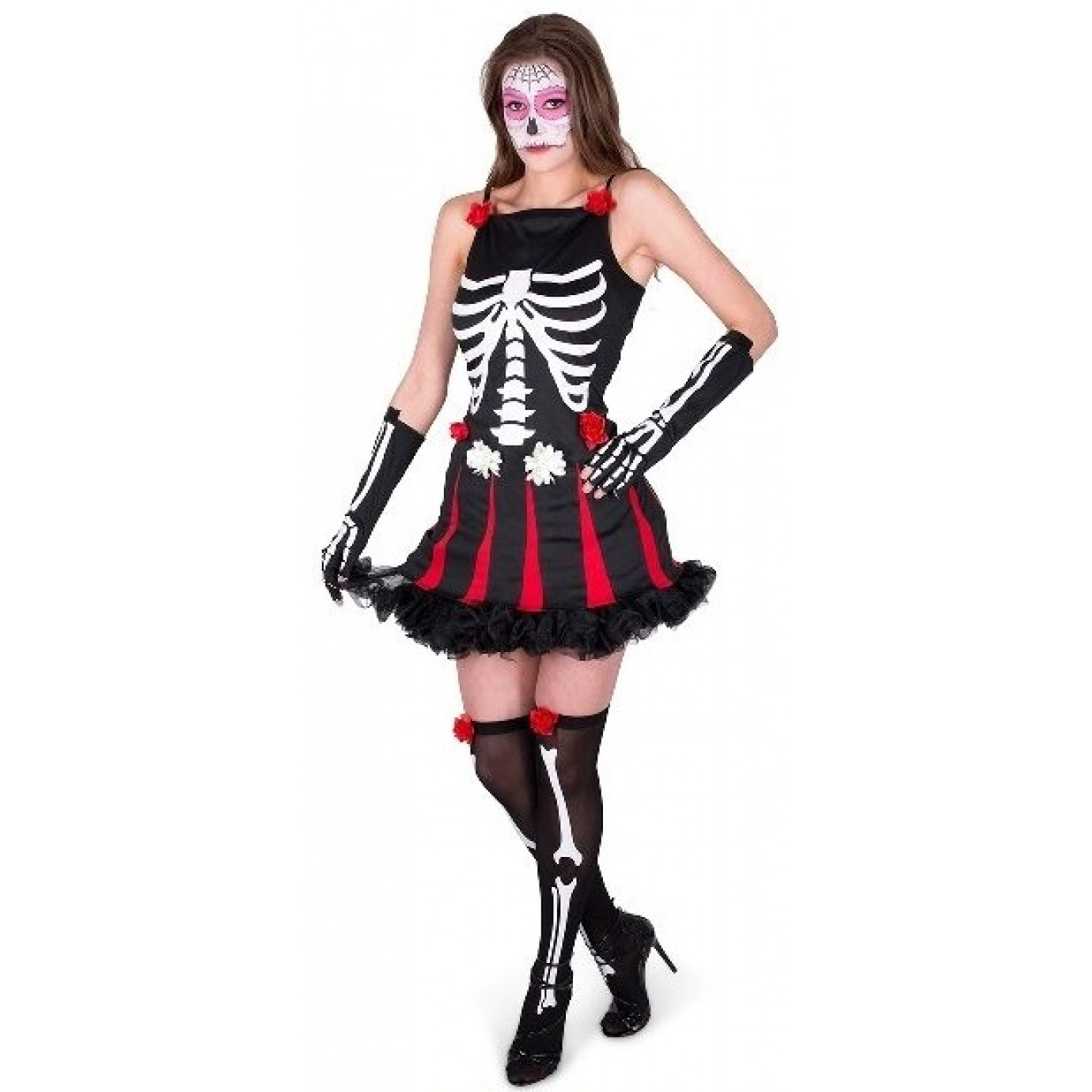 eb44fe5e946 Adult Costume - Karnival, Day of the Dead Red