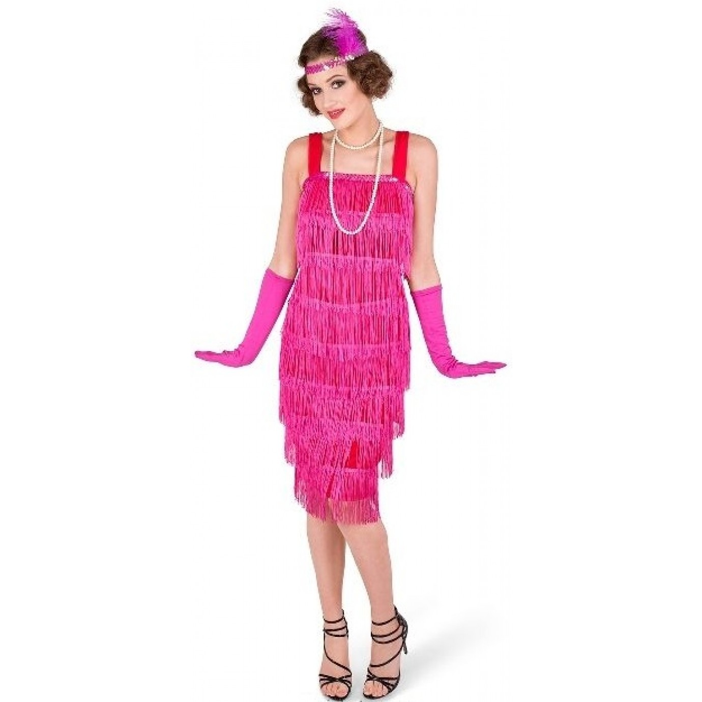 6a438b3259f2 Adult Costume - Karnival, Flapper Dress Pink | Women's General | Female |  Shop by Size | Costumes | The Party People Shop