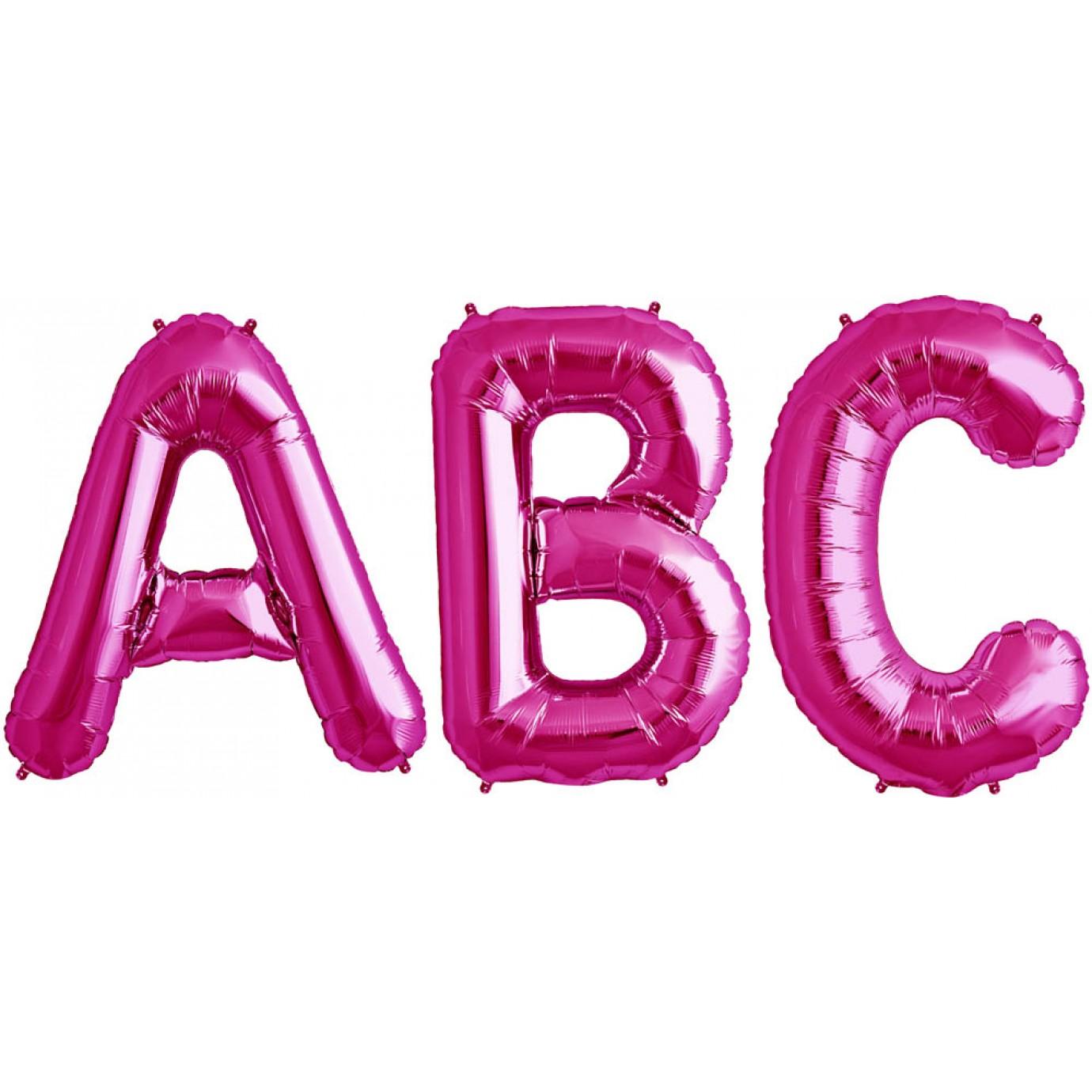 Balloon foil letter large magenta foil balloons for Large foil letter balloons
