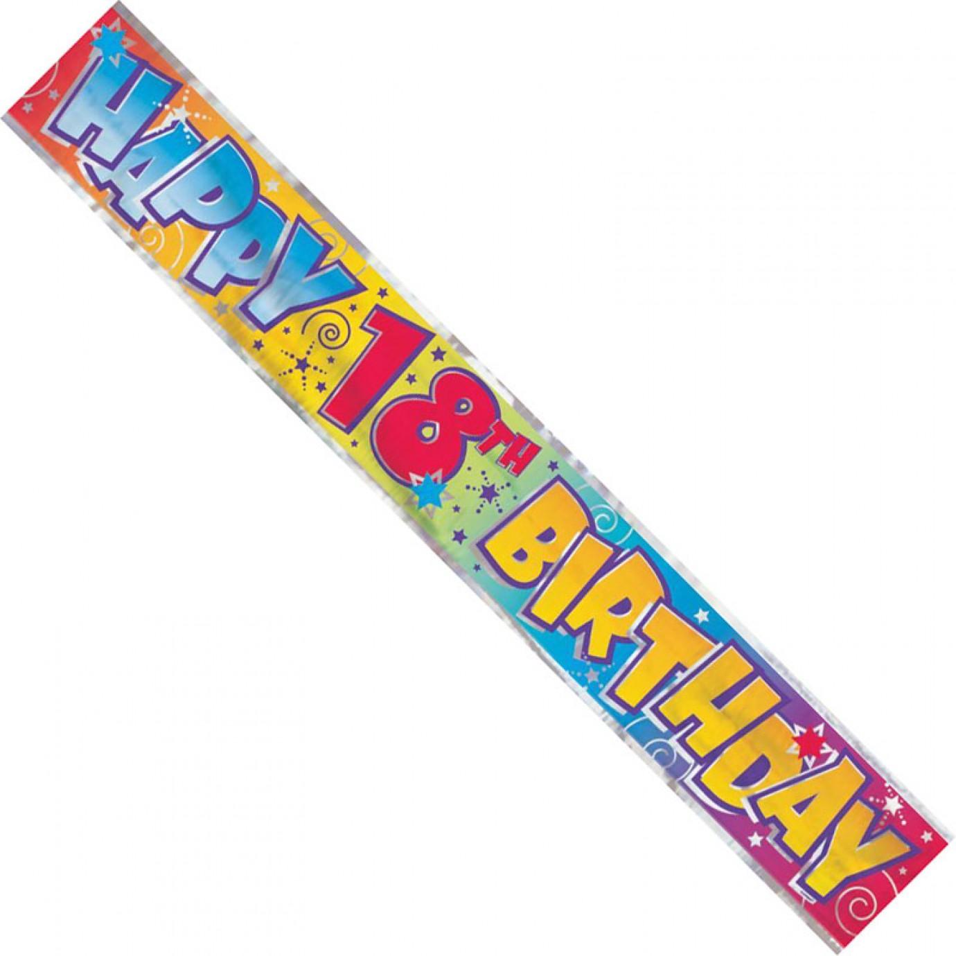 Banner, Foil - Happy 18th Birthday