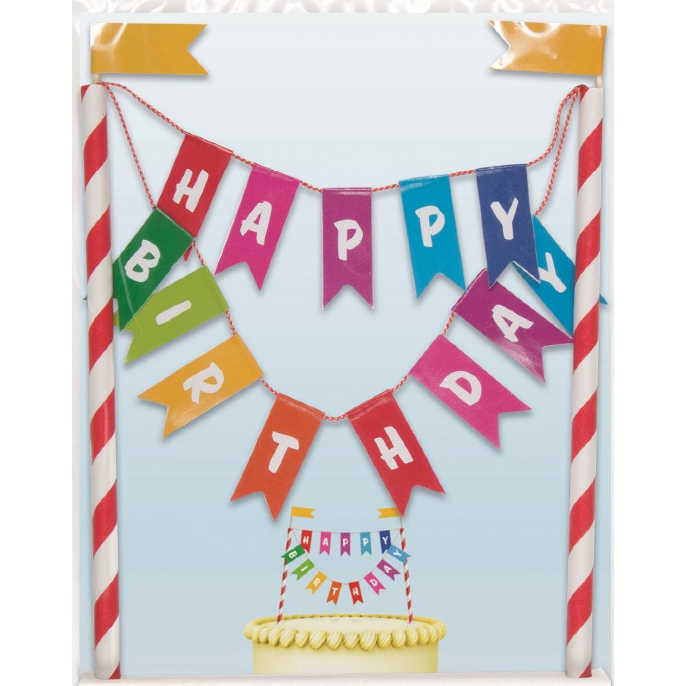 Cake Topper Bunting Happy Birthday Cupcake Toppers