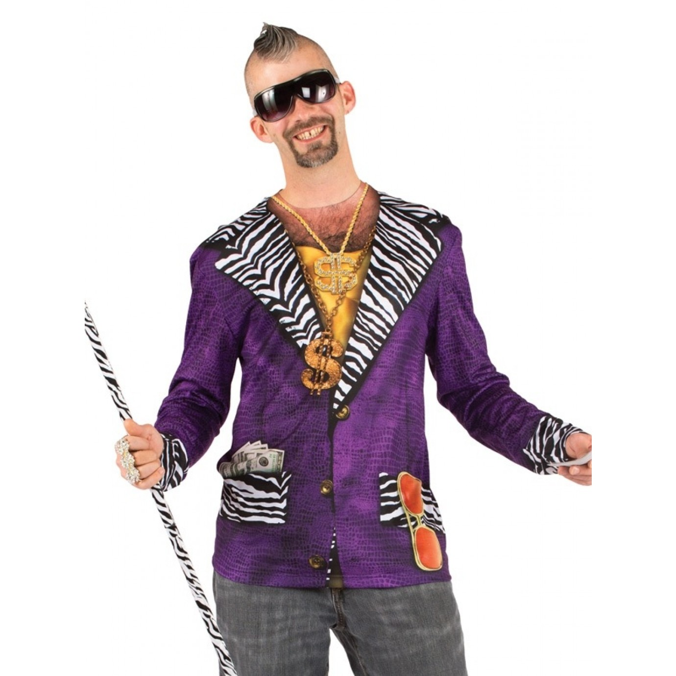 Adult Costume - Faux Real Shirt, Big Pimpin\' | Fancy Dress Costumes ...