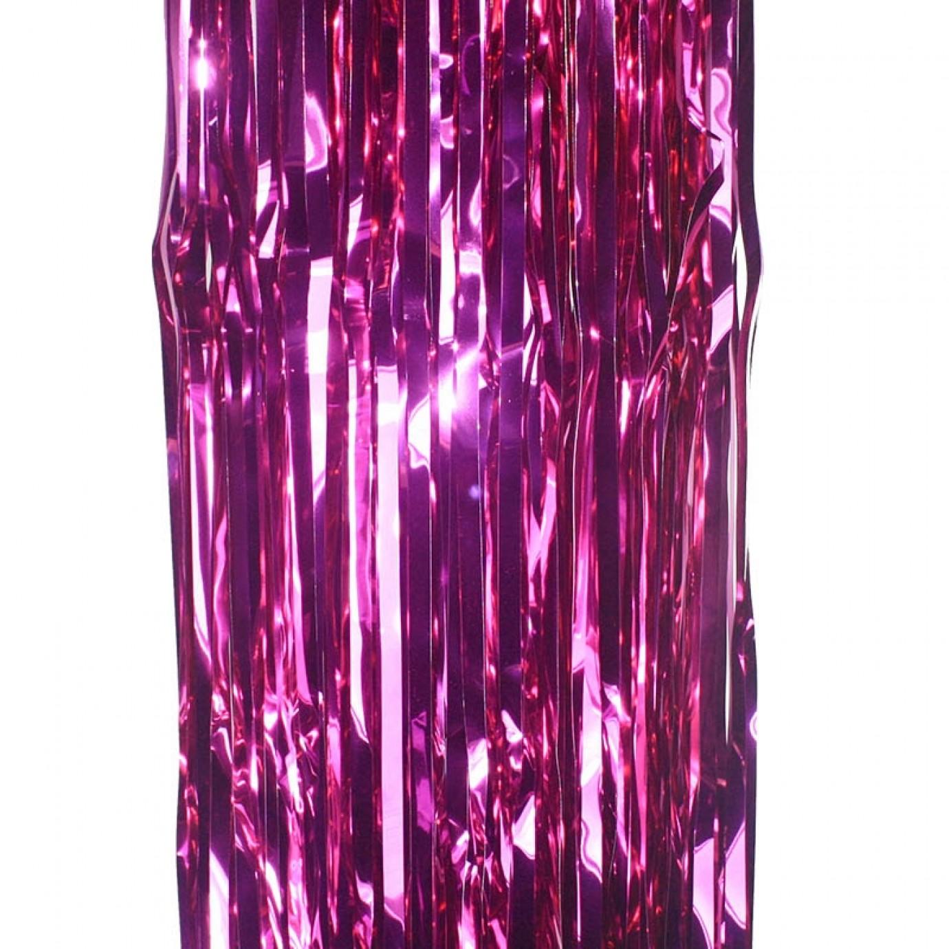 Door Curtain Foil Hot Pink Curtains Hanging Decorations