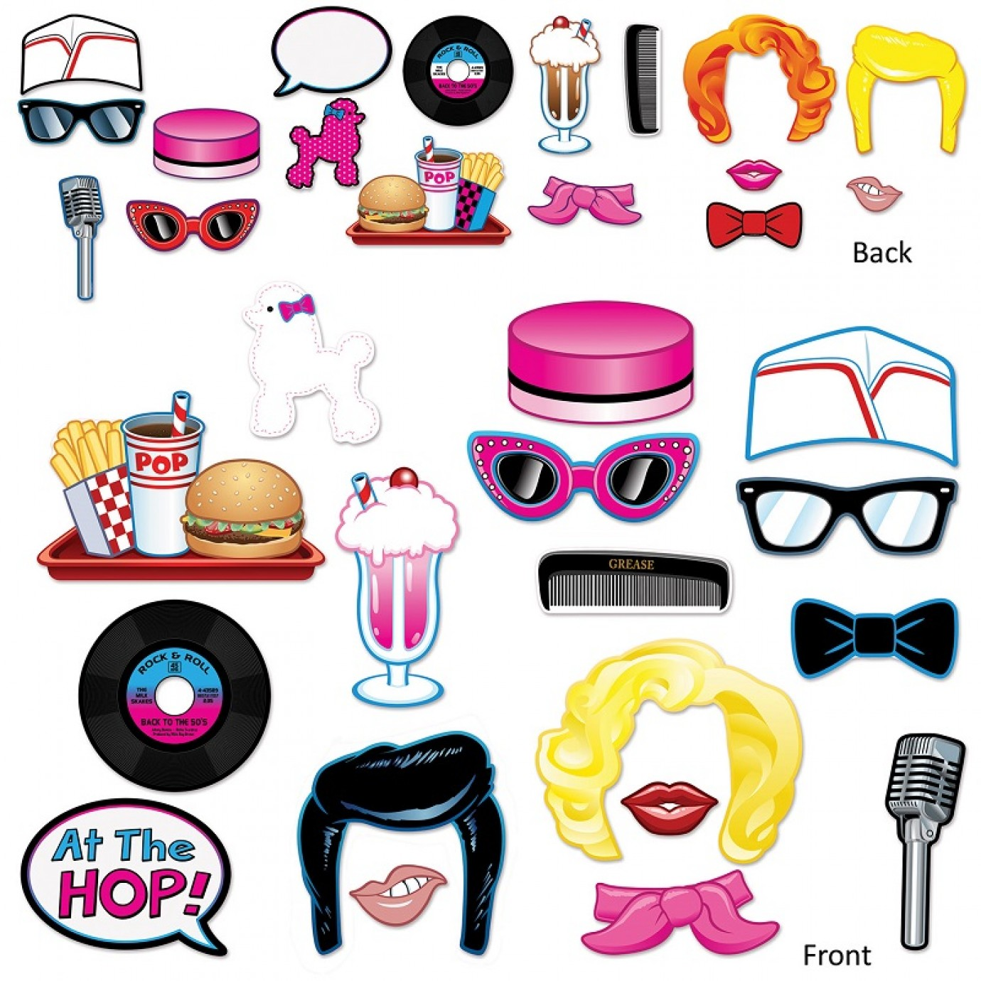 25ca34b19 Photo Booth Props - 1950's Fun | Photobooth Props | Props | Costume  Accessories | Costumes | The Party People Shop