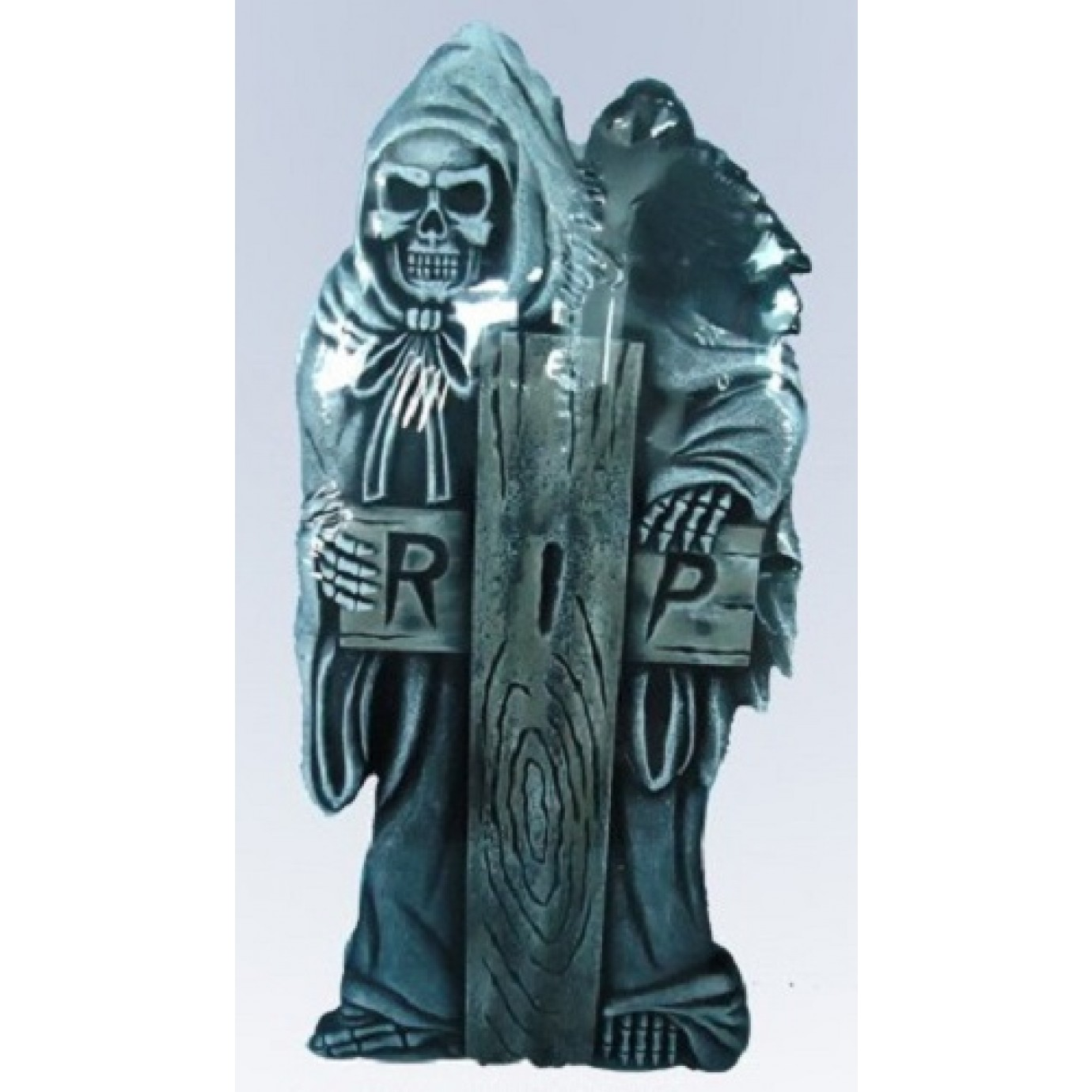 tombstone large grim reaper with cross