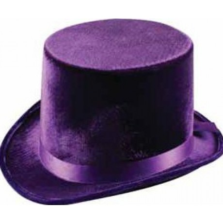 ea6220f7 Top Hat - Lincoln, Purple Velvet | Wizards & Magicians | Fancy Dress  Costumes | Party Supplies | Party Shop