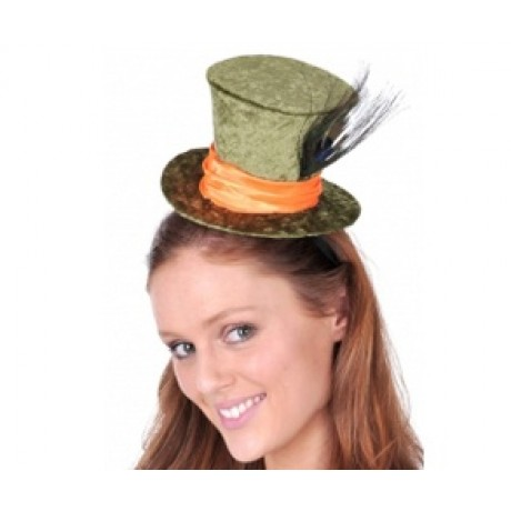 116017f5 Top Hat - Mini Mad Hatter - Green | Hats & Headwear | Fancy Dress Costumes  | Party Supplies | Party Shop