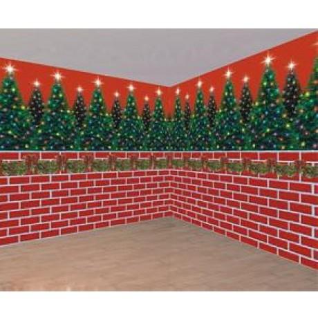 Backdrop - Brick Wall Firemen Decorations Party Supplies Party Shop