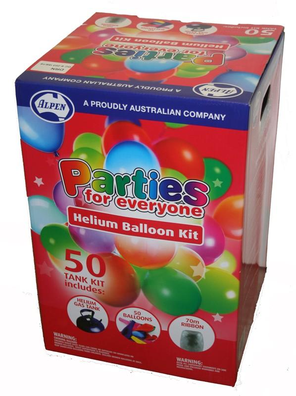 Helium Balloon Kit - Disposable 50 | Helium Balloon Tanks | Balloons ...