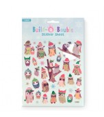 Christmas Build-a-Bauble, Sticker Sheet - Christmas Owls