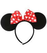 Minnie Mouse Ears, Red Bow