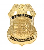 Badge - FBI, Gold