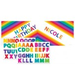 Banner - Customisable, Rainbow with Stickers