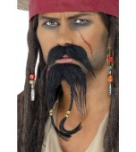 Beard & Moustache - Pirate, Black