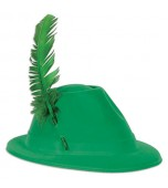 Alpine/Austrian Hat - Budget With Green Feather