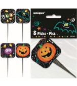 Cocktail Picks - Pumpkin Pals 8 pk