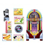 Backdrop Add Ons - Soda Shop Signs and Jukebox