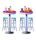 Backdrop Add Ons - Soda Shop Tables and Stools