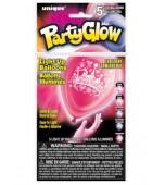 Balloons - Light Up, Princess 5 pk