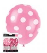 Balloons - Polka Dots Hot Pink 6 pk