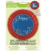 Badge - Birthday, Customisable Blue