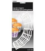 Cupcake Wraps - Spider Web 12 pk
