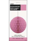 Hanging Decoration - Honeycomb Ball, Hot Pink 20 cm