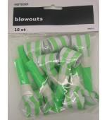 Blowouts - Stripes/Chevron Lime Green 10 pk
