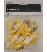 Blowouts - Stripes/Chevron Yellow 10 pk