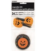 Cupcake Kit - Pumpkin Faces