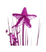 Decorative Pick with 3D Star - Hot Pink