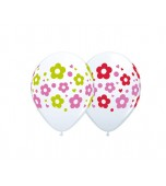 "Balloon - Latex, Print 11"" Daisies Dots Hearts"