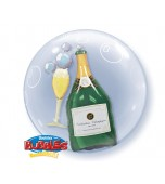 Double Bubble Balloon - Champagne