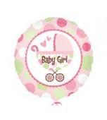 Balloon - Foil, Girl Pram Round
