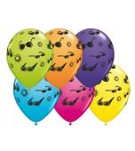 "Balloon - Latex, Print 11"" Summer Fun Assorted"
