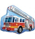 Balloon - Foil Super Shape, Fire Engine