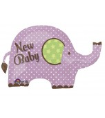 Balloon - Foil, New Baby Pink Elephant